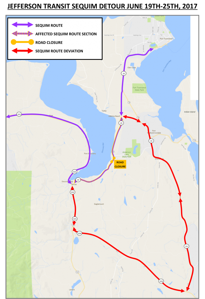 JEFFERSON TRANSIT SEQUIM DEVIATION MAP JUNE 2017
