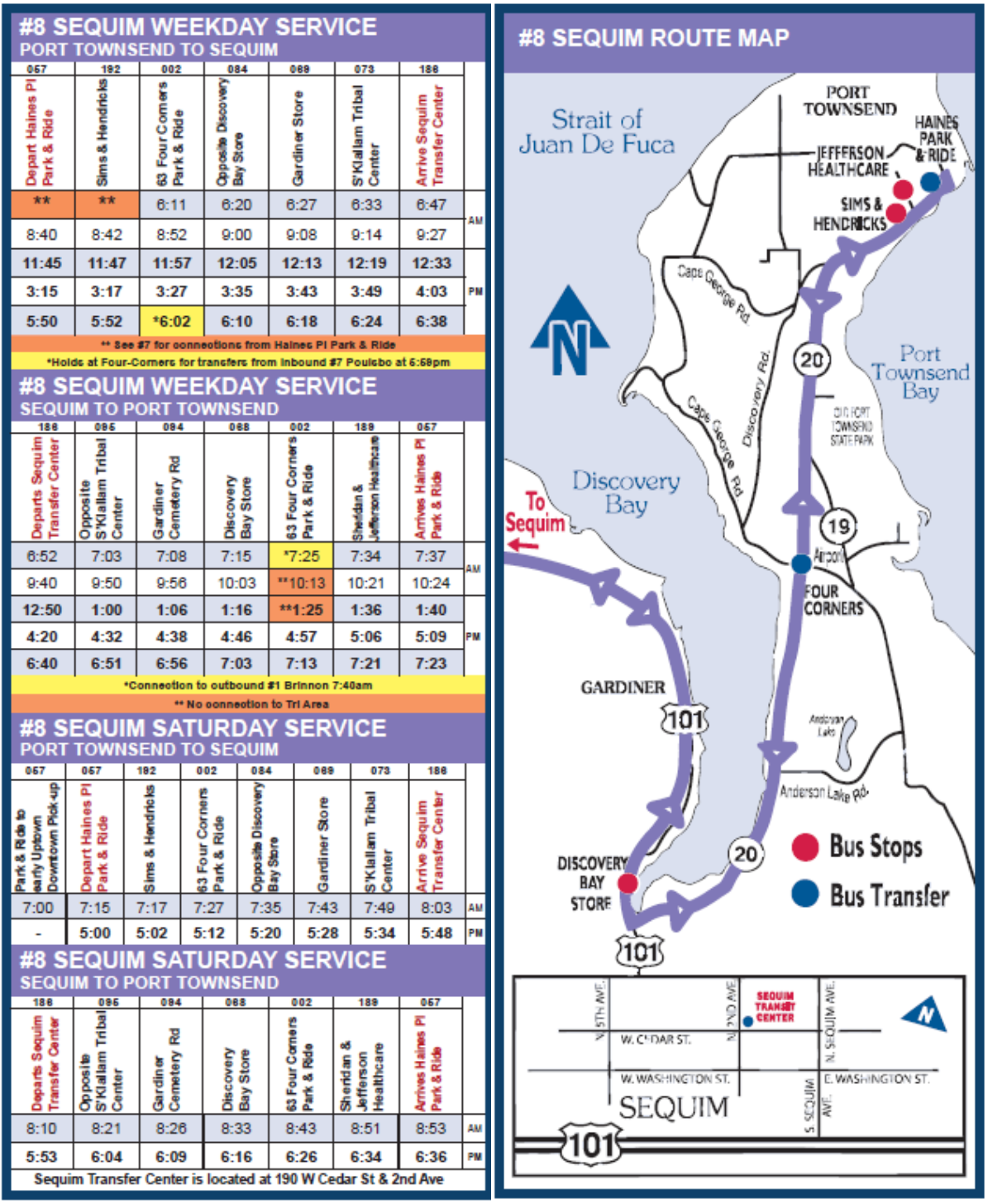 Route Schedules & Connection Schedules « Jefferson Transit