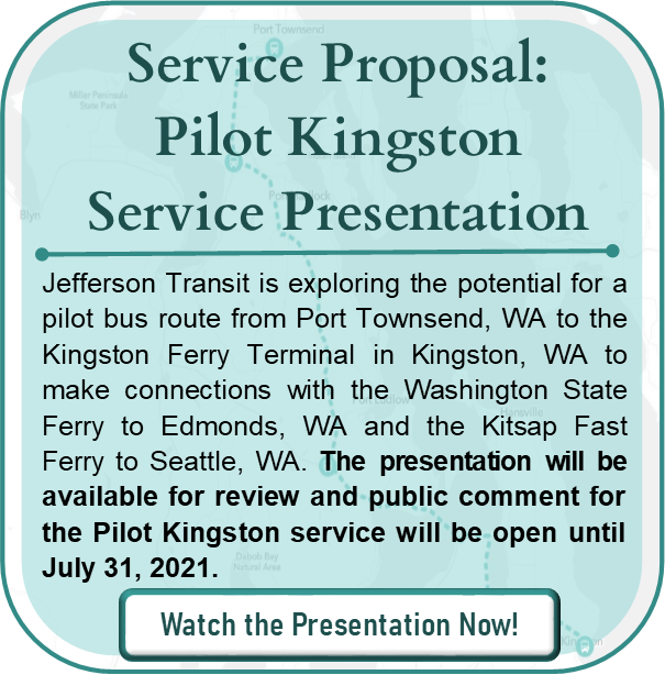 Service Proposal: Pilot Kingston Service Presentation